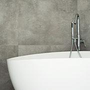 badekar i hvid